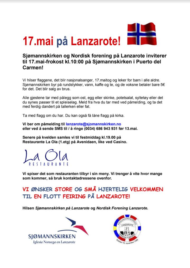17 mai 2018 Lanzarote