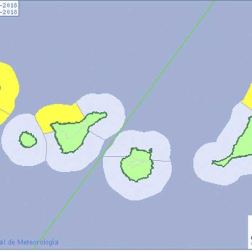 Gult bølgevarsel for Kanariøyene i dag