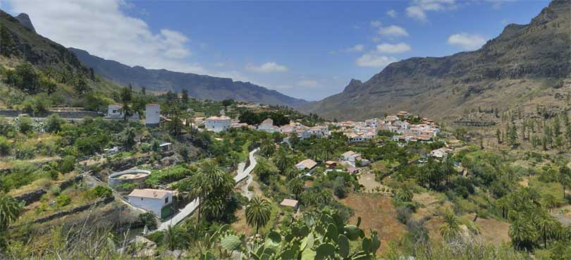 Fataga oversikt Gran Canaria
