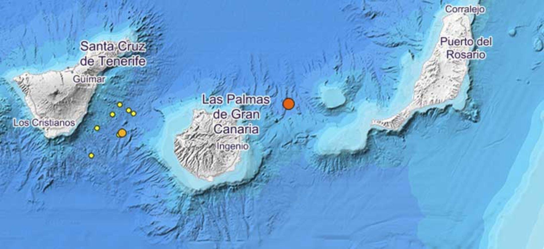 Nytt jordskjelv mellom Gran Canaria og Fuerteventura