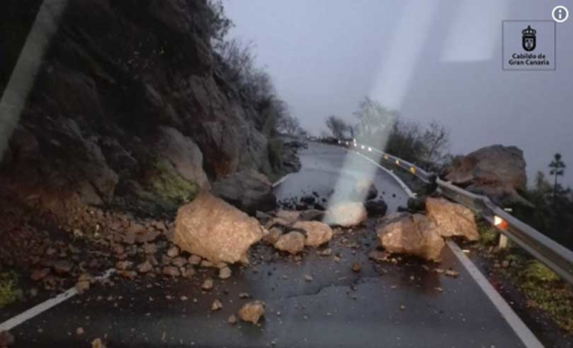 Stormen setter sine spor på Gran Canaria