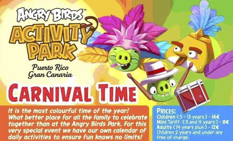 Karnevalsfeiring Angry Birds Park Puerto Rico