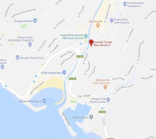 Kart nytt kjøpesenter Puerto Rico