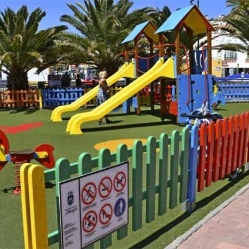 Mogán kommune har brukt 1,7 millioner på restaurering av lekeplasser
