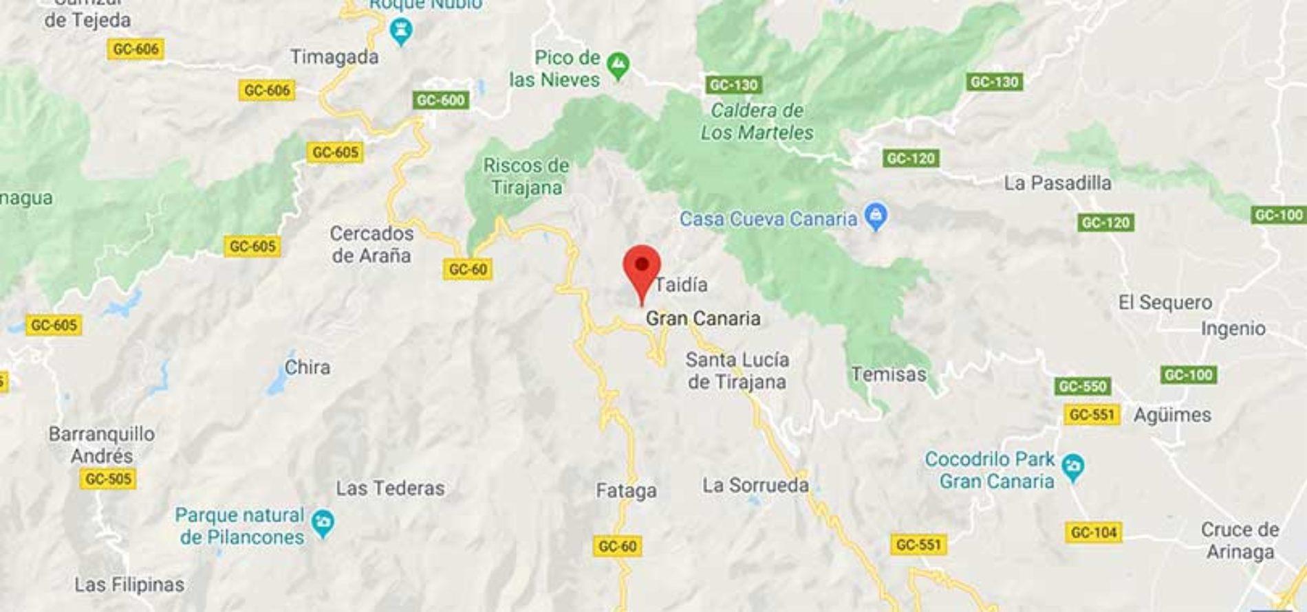 Ung nordmann berget med helikopter på Gran Canaria