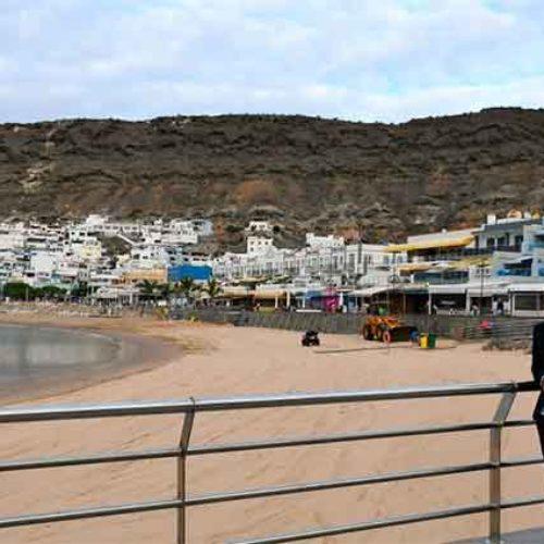 Playa de Mogán har fått 1250 tonn sand