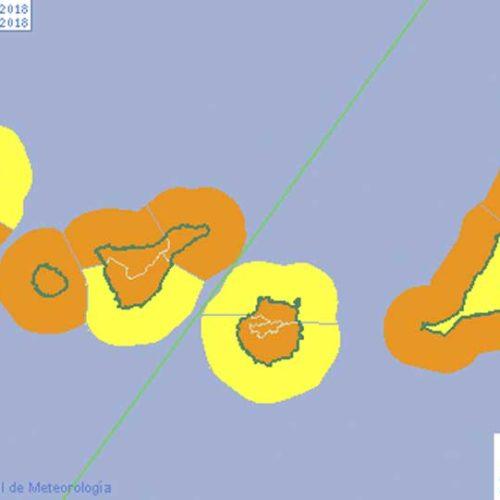 Oppgraderer til oransje varsel på Kanariøyene