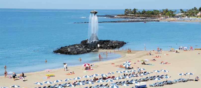 Playa Las Vistas Los Cristianos Tenerife fontene