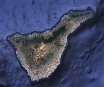 Satelitt skogbrann Tenerife