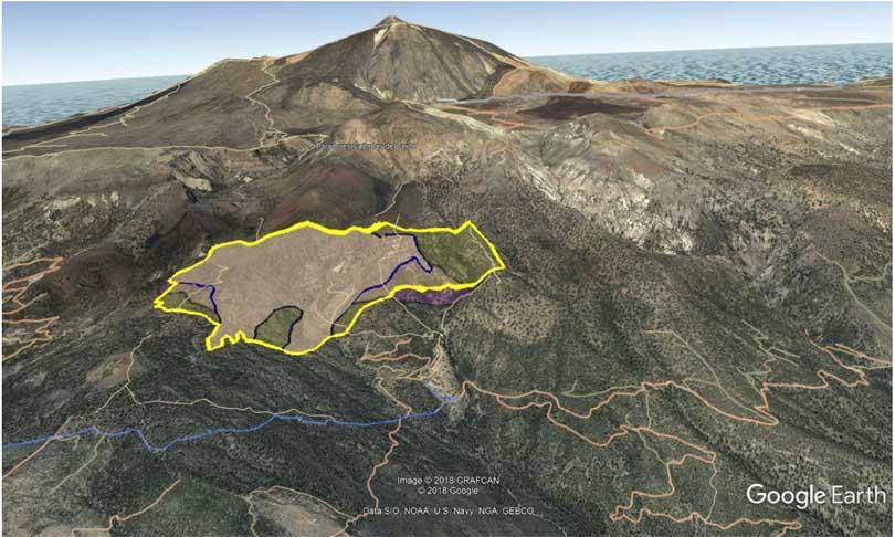 Skogbrann Tenerife kart