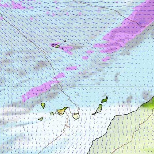 Litt regn på Kanarøyene i helgen