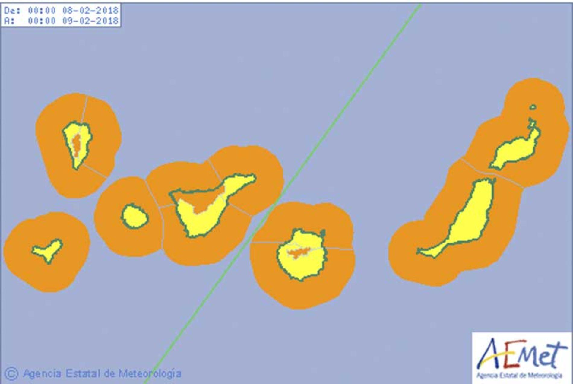 Enda verre værvarsel for Kanariøyene i morgen!