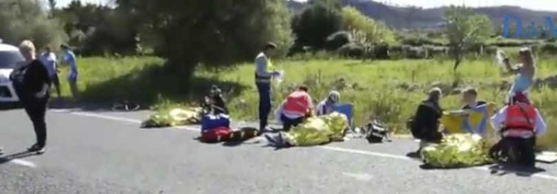 Kvinne meide ned 9 tyske syklister på Mallorca