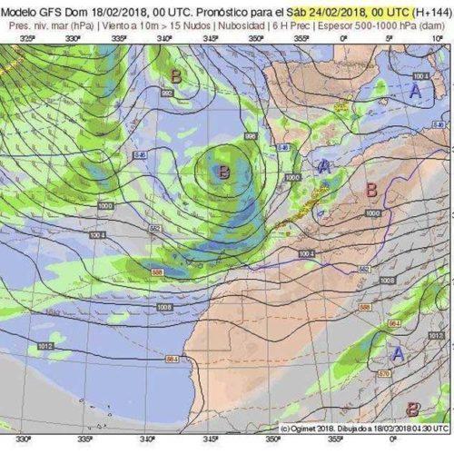 Dårlig vær i vente på fredag på Kanariøyene?